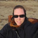Sittin on the cold beach all bundled up