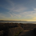 Alameda beach and Bay Farm peninsula in distance