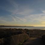 Alameda beach and Bay Farm peninsula in distance