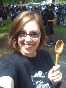 I brought my spare spoon to help me through the walk!