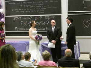 Married in a lecture hall at MIT!