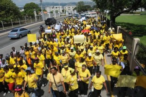 Endo Awareness march in Jamaica, 2014